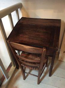 Ancien pupitre/écritoire en bois foncé