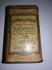 "Boite métal médicament ""Gyraldose"""