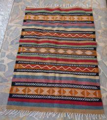 Tapis kilim berbère multicolore fait main 145cm*100cm