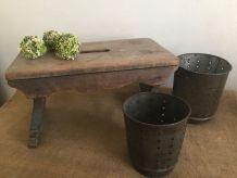 Petit banc, fabrication artisanale, authentique