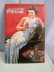 Plaque publicitaire Coca Cola  en tôle