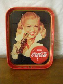 Plateau publicitaire en métal Coca Cola