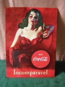 Plaque publicitaire en tôle Coca Cola