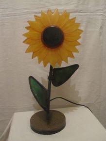 lampe forme fleur vintage