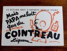 Rare Buvard Cointreau Liqueur Collection Vintage