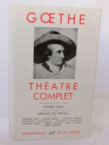 Livre La pléiade, Goethe, Théâtre complet, 1958.