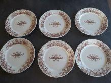 6 assiettes a dessert Sarreguemines modèle Jeannette
