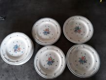 Lot de 8 assiettes  a dessert Provincial Bouquet