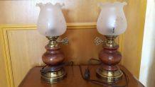 Lampes de chevet assorties