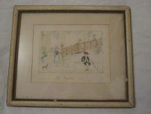 ancien cadre le Vestibule 1910