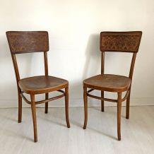 Paire de chaises bistrot vintage 30's