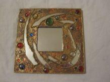 miroir incrustation vintage