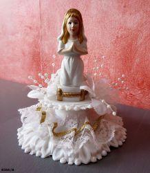 figurine communiante années 70 Décor de gâteau