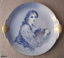 """Plat ancien en porcelaine de Limoges GOA """"L Buisson"""""""