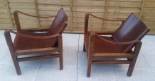 paire de fauteuils safari kaare klint