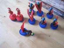 9 jouet figurine nestlé skieur VINTAGE