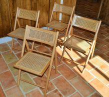 Chaises cannées vintages ( lot de 4)