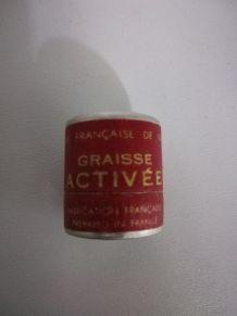 """Ancien pot en aluminium de graisse""""activée"""""""