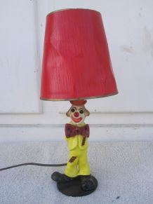 lampe clown année 60