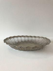 Corbeille en métal argenté vintage