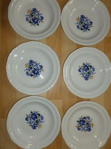 6 ASSIETTES PLATES MOULIN DES LOUPS ORCHIES/