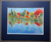 Pastel A .Couret peintre Gardois  creation des années 1980