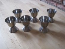 6 coquetiers inox vintage