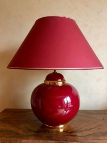 Lampe de salon Kostka Rondo Cerise Or - made in France