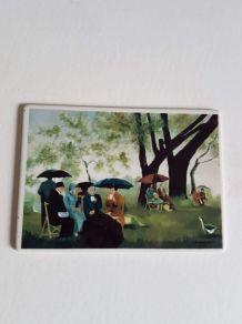 """carte postale Villeroy et Bosch  """"pique nique"""""""