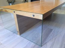 Table Basse Elegance Habitat / Chêne + Verre