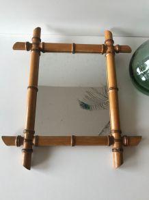 Miroir ancien en bambou