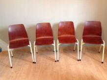 Suite de quatre chaises Pagholz vintage années 60-70