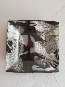 Plat céramique carré Onhiguian Pierre