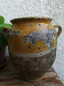 Ancien pot en terre vernissé