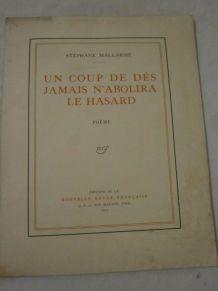 ancien livre un coup de dés jamais n abolira le hasard 1914.