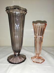 Paire de vases tulipe art deco