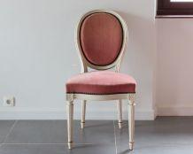 Chaise velours Louis XVI