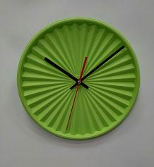 """Horloge vintage, pendule """"Tupperware Vert""""- 26.5cm"""