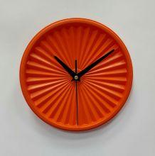 """Horloge vintage, pendule """"Tupperware Orange""""- 19cm"""