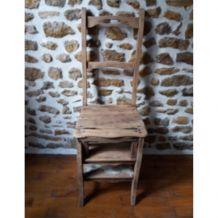 Chaise escabeau ancienne