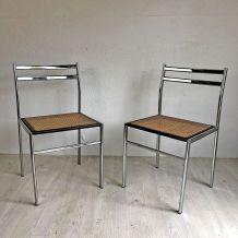 Paire de chaises vintage 70's