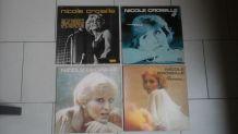 4 vinyles disques 33t nicole croisille