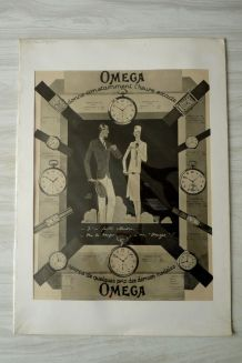 "AFFICHE ancienne Montres ""OMEGA"""