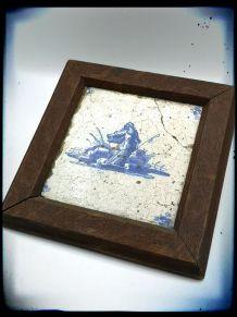 Azulejo monté sur cadre