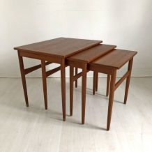 Tables gigognes scandinave vintage 60's