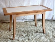 Table basse en hêtre naturel – circa 50