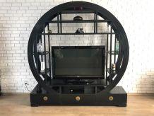 Meuble TV bibliothèque noir