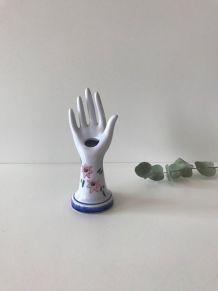 Petite main en céramique vintage main baguier