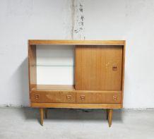 Meuble vitrine teck vintage 1960's