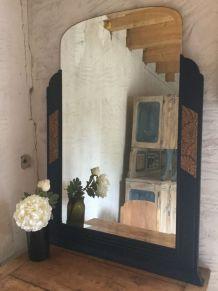 Grand miroir Art Déco ancien